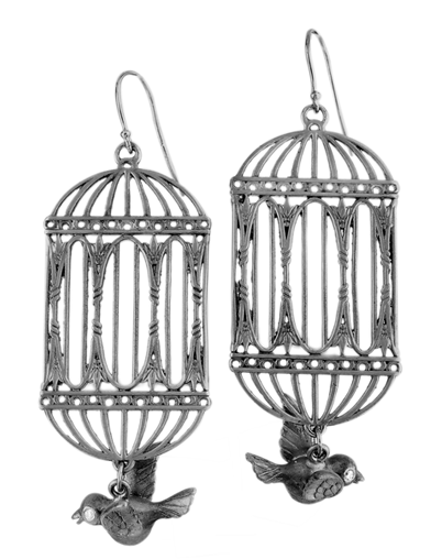 FLEW THE COOP BIRDCAGE EARRING