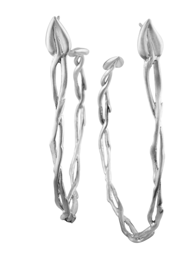 LARGE BRANCH HOOP EARRING