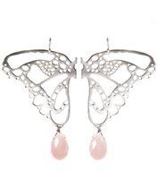 SPRING STONE TIPPED  BUTTERFLY WING EARRING