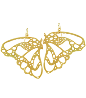 GRANDE BUTTERFLY  WING EARRING