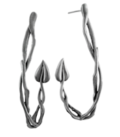 STEM BRANCH HOOP EARRING