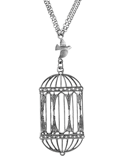 ANTIQUE BIRDCAGE NECKLACE