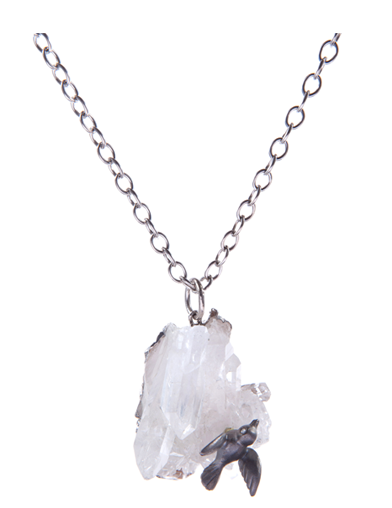 NATURAL ROCKER QUARTZ NECKLACE