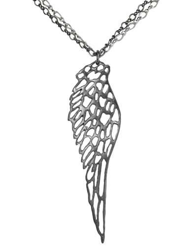 SOLO FEATHERED WING PENDANT
