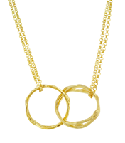 LINKED BRANCH-RINGS NECKLACE