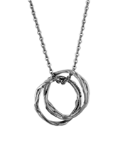 DOUBLE BRANCH-RINGS NECKLACE
