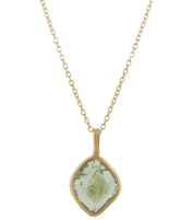 ORGANIC EARTH DIAMOND SLICE PENDANT