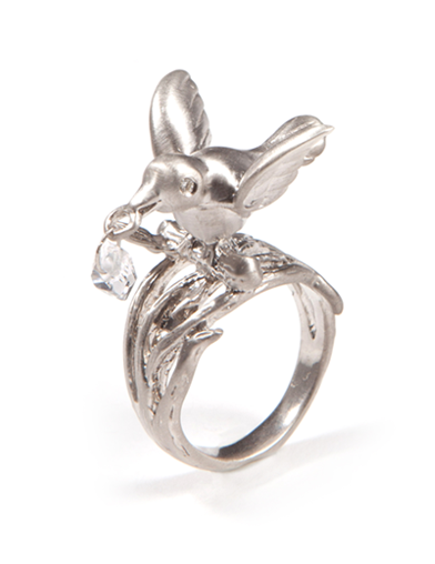 JEWEL CARRIER HERKIMER DIAMOND RING