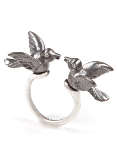 KISSING BIRD RINGS