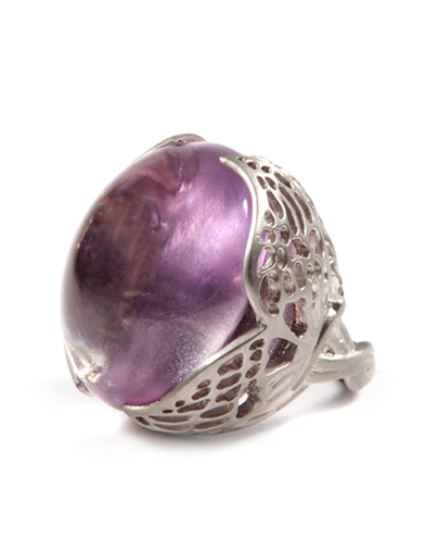 WINGED AMETHYST RING