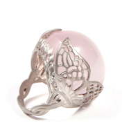 WINGED ROSE QUARTZ RING
