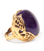 WINGED DARK AMETHYST RING